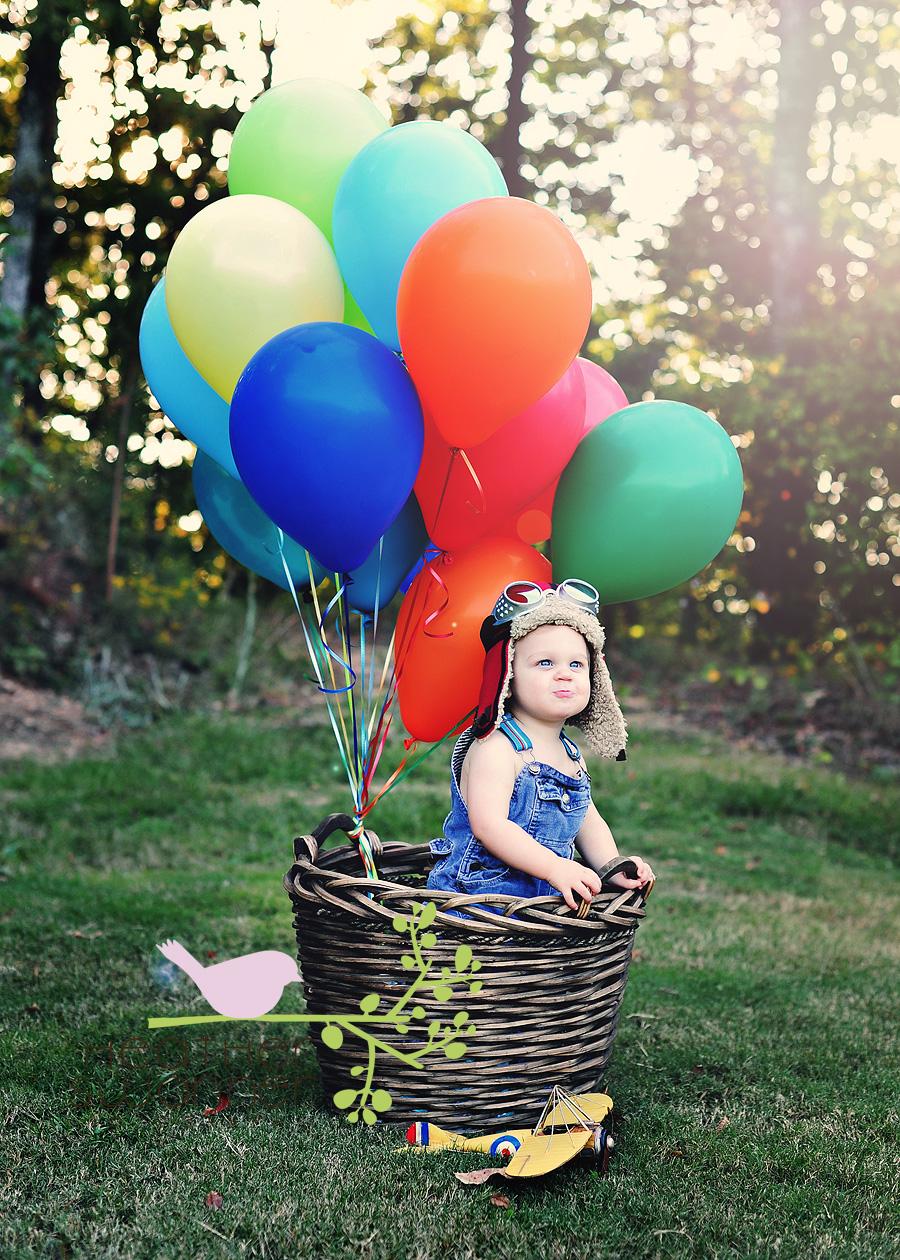 helio balionai vaiku fotosesijose